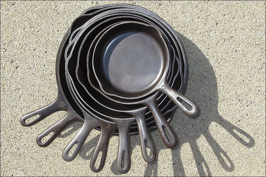 Nested cast iron is easy to store.