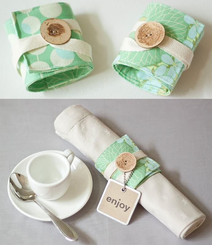 Napkin rings make great gifts for a wedding or birthday and spur conversation at a tea party.