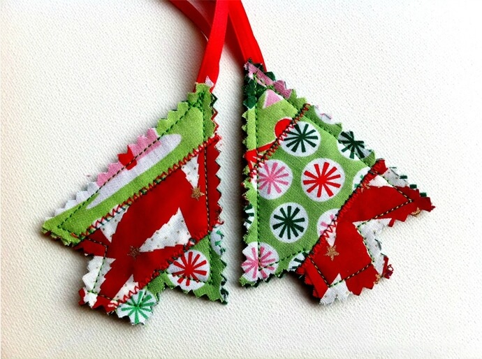 Gather your fabric scraps and create something fun for the holidays.