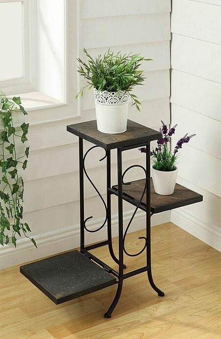 Metal, wooden or plastic, choose a traditional plant stand the best suits your interior space.