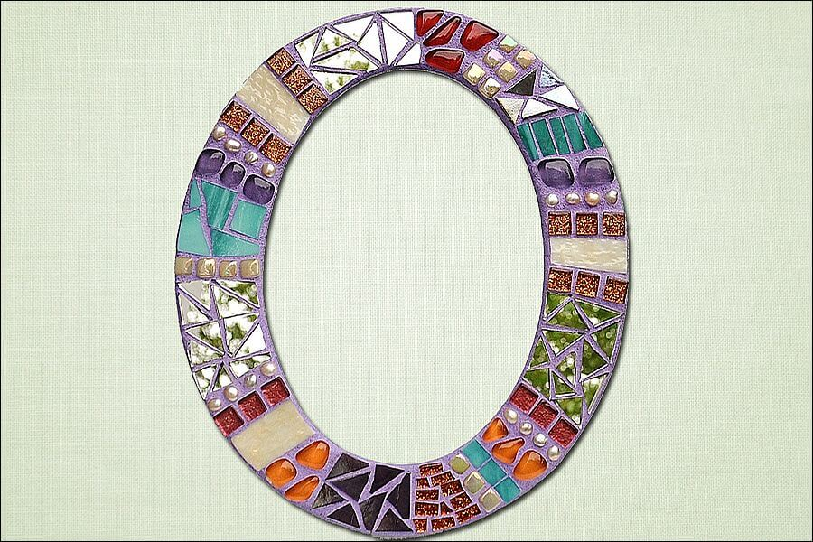 Glass beads and mirrored glass add interest to mosaics.