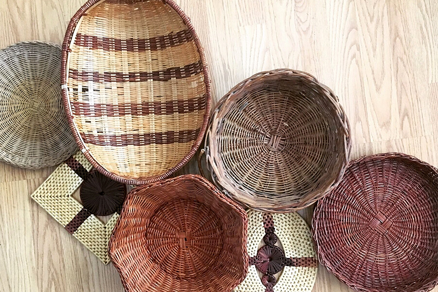 With a little patience you can turn unused baskets into light fixtures or lamp shades.